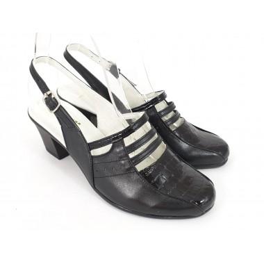 Sandale dama piele negre Belina