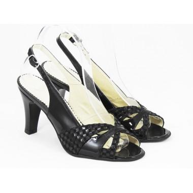 Sandale dama piele negre Enika