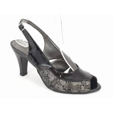 Sandale dama piele negre Osaka