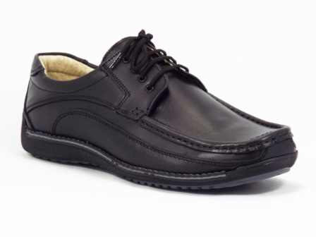 Pantofi Barbati Piele Negri Siret Frenzo