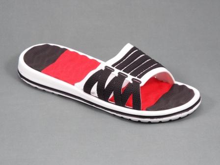 Papuci Barbati Negri Cu Rosu Greko