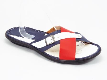 Papuci Barbati Rosii Cu Alb Si Albastru Keo
