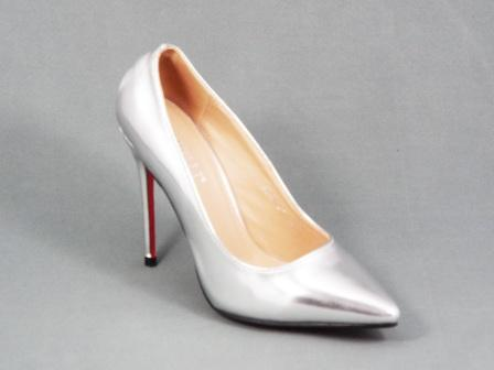 Pantofi Dama Argintii Stiletto Toc 10 Cm Sonyk
