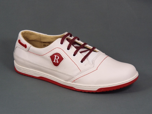 Pantofi Sport Barbati Piele Albi Juliano