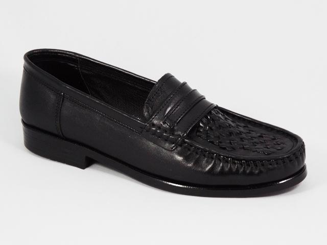 Pantofi Barbati Negri Piele Costy