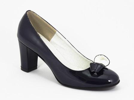 Pantofi Dama Piele Lac Bleu Bilka
