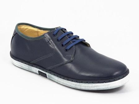 Pantofi Barbati Piele Bleu Romy