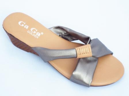 Papuci dama maro cu barete gri metalizat