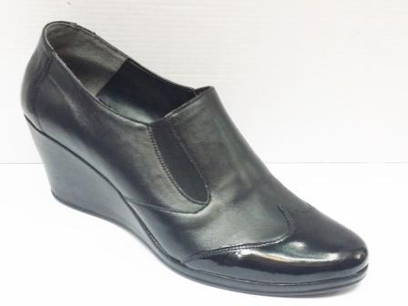 Pantofi dama piele negri cu talpa ortopedica