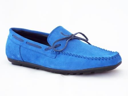 Pantofi barbati albastri din piele intoarsa sport