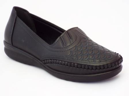Pantofi dama negri cu talpa comoda, flexibila.