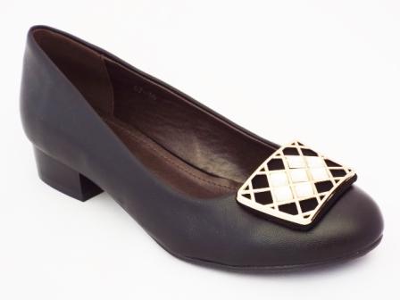 Pantofi dama negri cu toc de 3 cm
