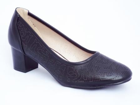 Pantofi dama negri, toc de 5 cm