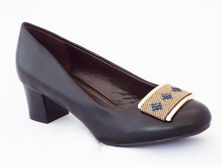 Pantofi dama negri cu toc de 5 cm