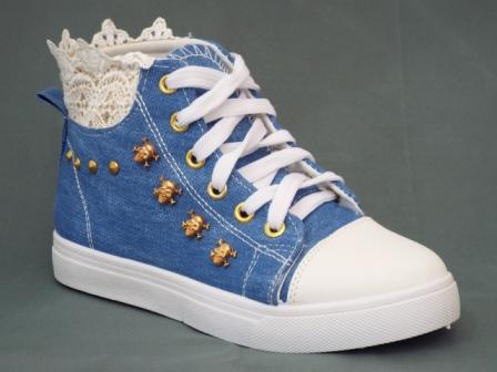 Tenesi dama albastri, material jeans, stil ghetuta
