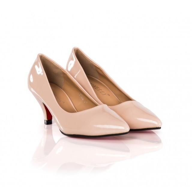 Pantofi dama Dyane roz cu toc de 6 cm
