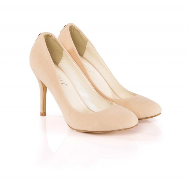 Pantofi dama Tenny bej cu toc de 10 cm