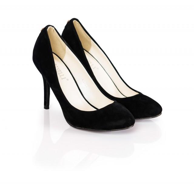 Pantofi dama Tenny negri cu toc de 10 cm