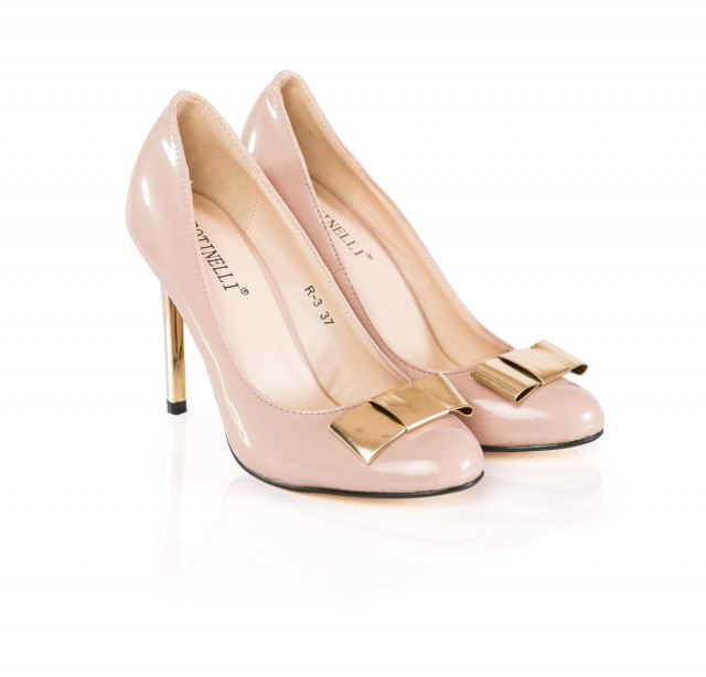 Pantofi dama Anny bej cu toc de 9 cm