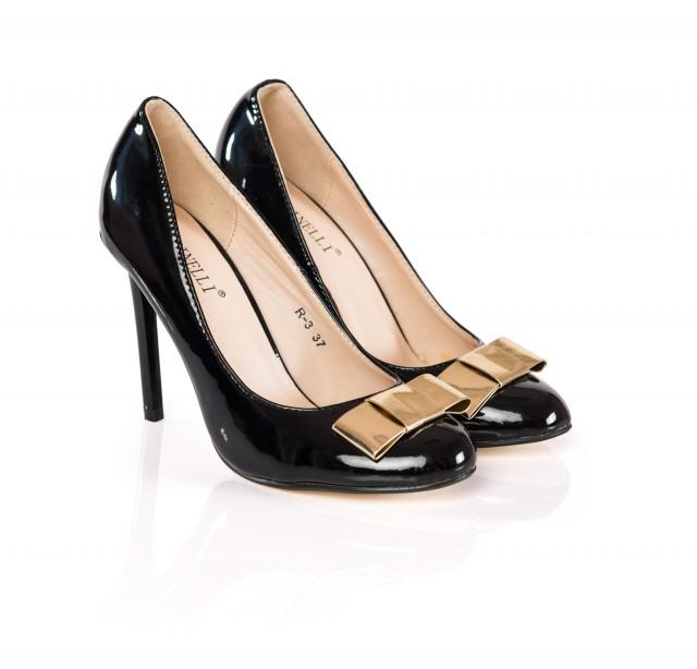 Pantofi dama Anny negri cu toc de 9 cm