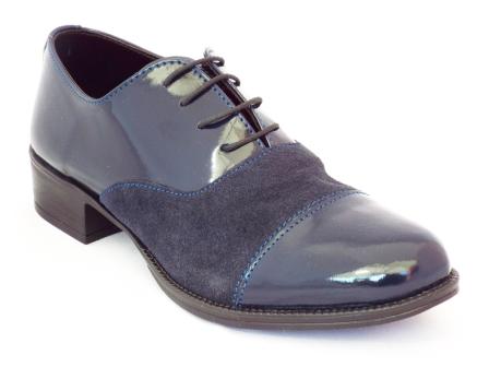 Pantofi dama Nely albastri din piele naturala