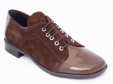 Pantofi dama NELY maro din piele naturala.