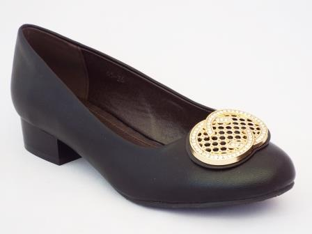 Pantofi femei Peydo negri cu toc de 3 cm
