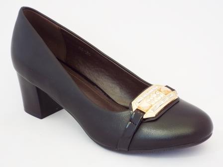 Pantofi femei Pyada negri cu toc de 5 cm