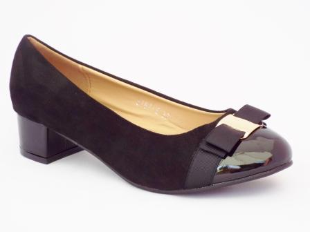 Pantofi femei Pelyna negri cu toc mic