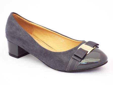 Pantofi femei Pelyna gri cu toc mic