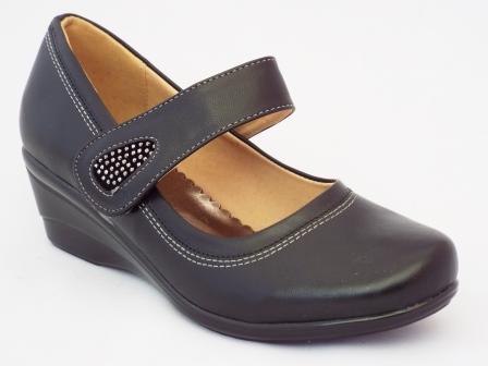 Pantofi femei negri Lopi cu talpa ortopedica