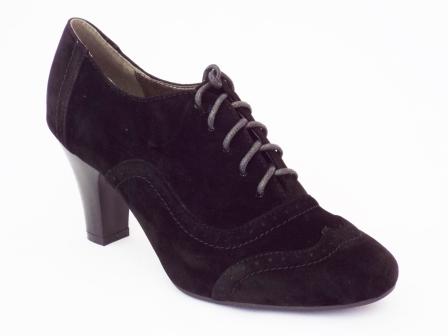 Pantofi femei Rodya negri cu toc de inaltime medie