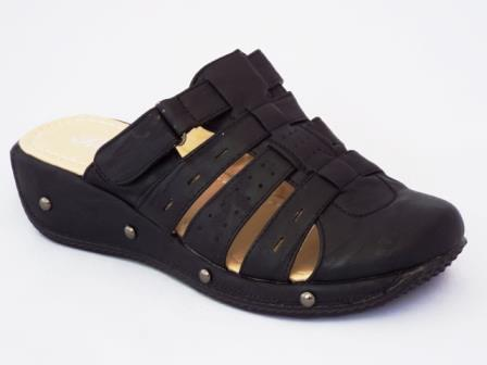 Papuci dama negri cu prindere tip arici