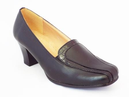 Pantofi dama Renada negri cu toc de 5 cm
