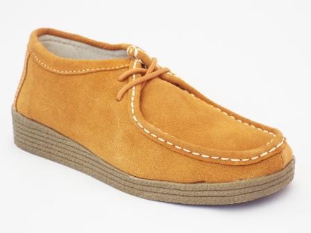 Pantofi femei bej Gysnia din piele intoarsa