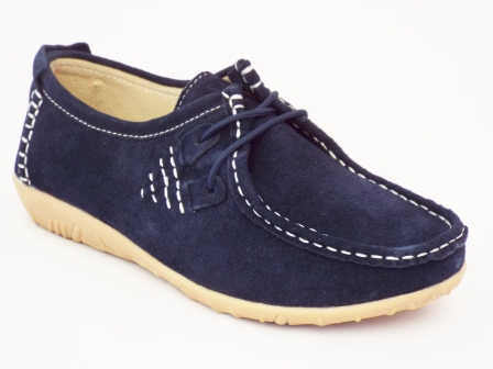 Pantofi femei albastri Gyrona din piele intoarsa