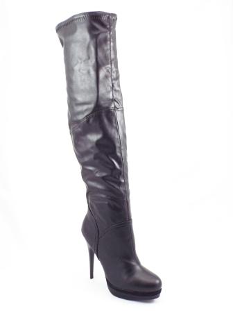 Cizme dama Sonya negre toc de 12 cm cu platforma
