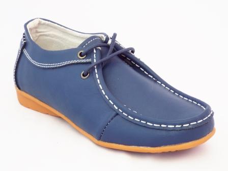 Pantofi dama Sonya albastri piele naturala