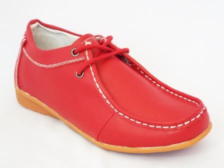Pantofi dama Sonya rosii piele naturala