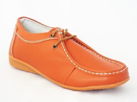 Pantofi dama Sonya portocalii piele naturala