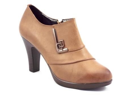 Pantofi dama Yndy khaki toc de 8 cm