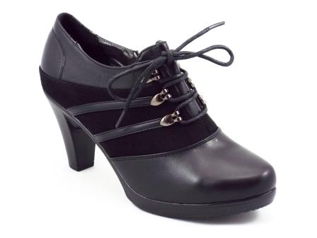 Pantofi dama Yndy negri toc de 8 cm