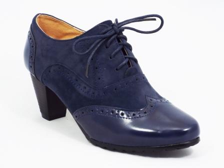 Pantofi femei Polino albastri cu toc de 7 cm