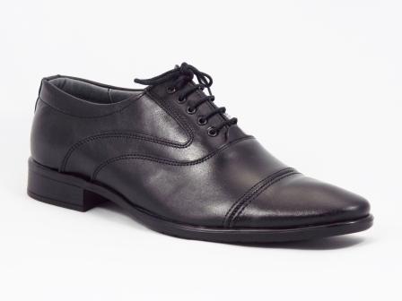 Pantofi barbati piele negri siret Henry