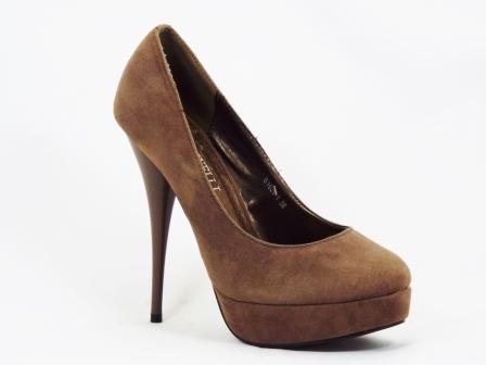 Pantofi dama maro toc 13 cm platforma Hanny