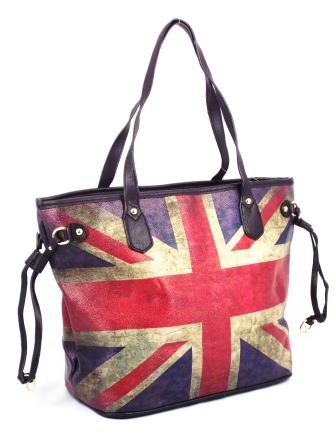 Geanta dama rosu cu albastru Britain