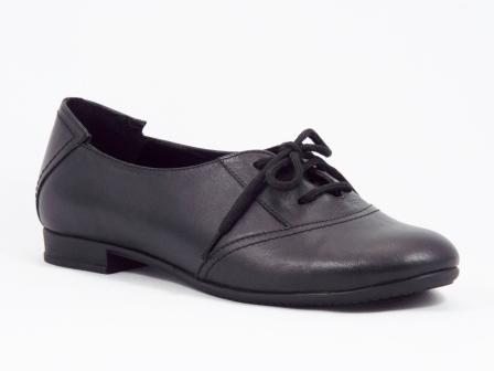 Pantofi dama piele negri toc inaltime mica Fytyo