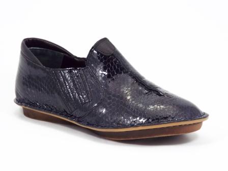 Pantofi dama piele negri tip croco Mellysa