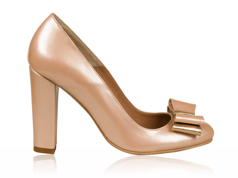 Pantofi dama piele auriu sidefat toc 10 cm Kryna