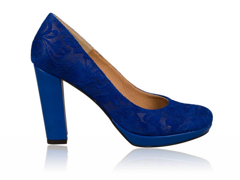 Pantofi dama piele albastri toc 9 cm Nonya